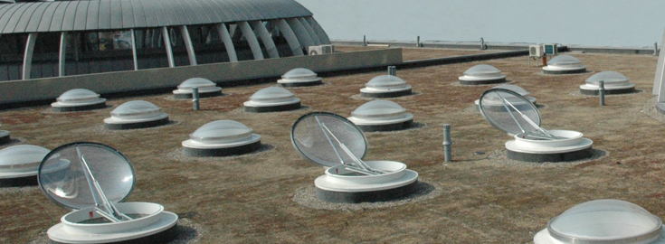 Зенитные фонари для дымоудаления